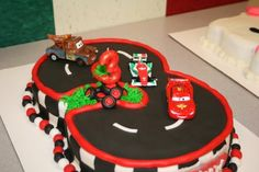 Disney Cars Cake - I made this for my son.