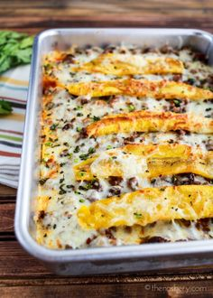Puerto Rican Pastelon (Sweet Plantain Lasagna) | Sweet plantain strips fried and laid between layers of savory meat and cheese. Pastelon is one of my favorite dishes from childhood. | The Noshery