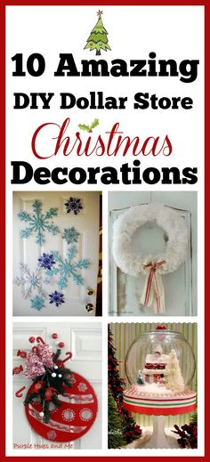 DIY Christmas Decorations  Holiday Projects with Dollar Store - dollar general christmas decorations