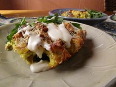 savoury bread pudding - use up stale bread!