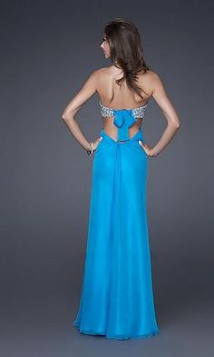 Column Chiffon Strapless Long Dress Charm89428