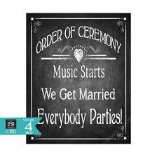 music starts we get married everyone -or on a simple invite Gym Wedding Reception, Wedding Ceremony Outline, Wedding Ceremony Music, Ceremony Signs, Reception Signs, Wedding Signage, Wedding Ideas, Wedding Stuff, Dream Wedding