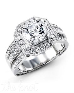 Simon G. Jewelry Engagement Ring and Simon G. Jewelry Wedding Ring