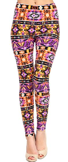Printed Brushed Leggings - Zapper  #Leggings #VIVCollection #Fashion #OOTD
