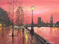 PETE RUMNEY FINE ART MODERN OIL ACRYLIC PAINTING ORIGINAL LONDON EYE BIG BEN NEW in Art, Artists (Self-Representing), Paintings | eBay