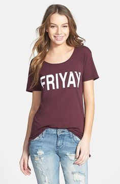 Project Social T 'Friyay' High/Low Pocket Tee (Juniors) available at #Nordstrom
