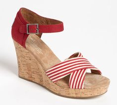 Love these TOMS striped wedge sandals @Nordstrom - on sale for 33% off! http://rstyle.me/n/fjrg2nyg6