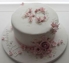 Birthday Cake Maker Love This Classy Floral Birthday Cake Jill The Cakemaker. Birthday Cake Maker Unicorn Birthday Cake In Purples And Pinks White Rose Cake Design. Birthday Cake Maker, 90th Birthday Cakes, 40th Cake, Birthday Desserts, Shabby Chic 40th Birthday, Mum Birthday, Birthday Wishes, Bolo Floral, Floral Cake