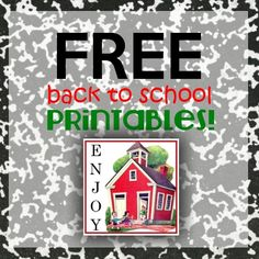 Variety of Back to School Printables... Pencil toppers, treat boxes, etc.