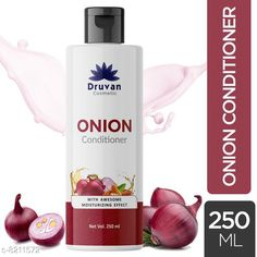 Conditioner Druvan Cosmetic Onion Conditioner For Hair Growth - Anti-Hair Fall Pack of 1 (250ml)  Product Name: Druvan Cosmetic Onion Conditioner For Hair Growth - Anti-Hair Fall Pack of 1 (250ml)  Brand Name: Druvan Cosmetic Hair Type: All Hair Type Flavour: Onion Multipack: 1 Country of Origin: India Sizes Available: Free Size   Catalog Rating: ★4.2 (398)  Catalog Name: Druvan Cosmetic Proffesional Ultra Conditioner CatalogID_1368119 C166-SC2040 Code: 081-8211572-993