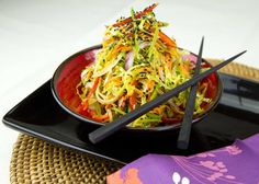 Colorful Asian Slaw / @DJ Foodie / DJFoodie.com