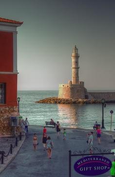 Chania harbor #lighthouse http://dennisharper.lnf.com/