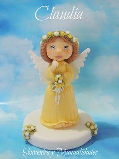 Angelita para torta de comunión  .-