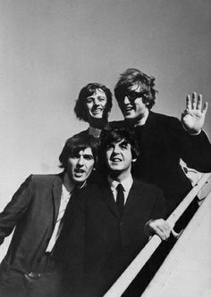 The Beatles arrive in America, 1964.