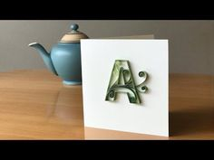 Quilling Tutorial - Letter A - Filling with Scrolls using a Needle Tool - YouTube