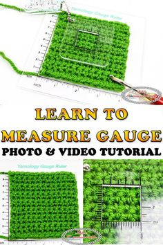 Learn how to properly check, measure and adjust your gauge on crochet projects using this easy to understand Photo and Video Tutorial. Learn the Secret to a happier crochet life. #free #crochet #pattern #gauge #crochetgauge #measure #adjust #diyideas #crochettutorial #tutorial #secret #crochettip #crochetgauge