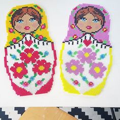 Matryoshkas hama beads by  husochbus