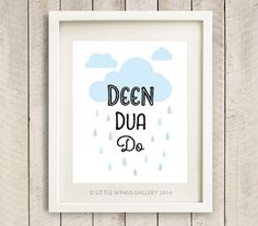 Digital Download Deen Dua Do Cloud Blue POP by LittleWingsGallery, $6.00