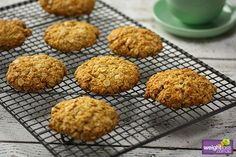Almond Meal Anzac Biscuits Recipe on Yummly. Low Sugar Recipes, No Sugar Foods, Almond Recipes, Snack Recipes, Dessert Recipes, Healthy Recipes, Snacks, Desserts, Almond Flour Biscuits