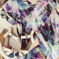 California dreaming! Pikolinos shoes, Numph dress.