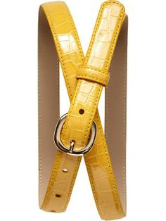 yellow croc belt | banana republic