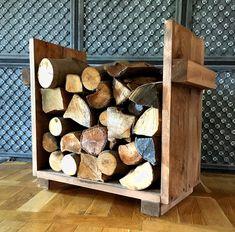 #Kaminholzablage aus Massivholz. Uriges #Regal für Euer #Feuerholz. / wooden #shelf for your #firewood made by dekorie67 via DaWanda.com