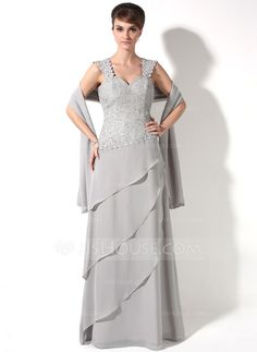 Mother of the Bride Dresses - $152.99 - A-Line/Princess Sweetheart Floor-Length Chiffon Mother of the Bride Dress With Lace Beading Cascading Ruffles (008006482) http://jjshouse.com/A-Line-Princess-Sweetheart-Floor-Length-Chiffon-Mother-Of-The-Bride-Dress-With-Lace-Beading-Cascading-Ruffles-008006482-g6482