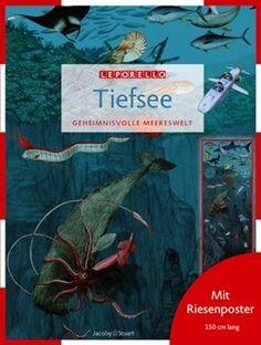 심해 - 신비로운 생명 | 32 페이지, 하드커버, 21 x 28 cm, 포스터 크기  29 x 150 cm | 심해에 존재하는 자체발광을 하는 신비로운 생명체를 만나고 탐구하다보면 지구의 신비로움에 감탄하게 된다.