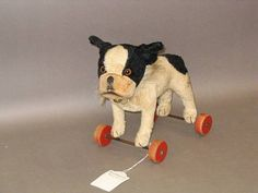 Steiff 'Bully' Bull dog on wheels, German circa 1
