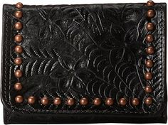 American West Shane Ladies TriFold Wallet Black One Size *** Learn more by visiting the image link. Evening Bags, American, Detail, Clutches, Wallets, Black, Image Link, Handle, Handbags
