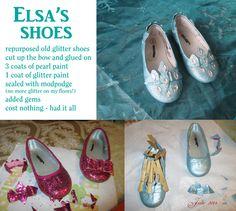 Elsa's shoes from Frozen DIY by tallterror.deviantart.com on @deviantART