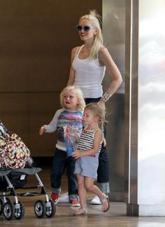 Gwen Stefani takes her son Zuma to Universal Citywalk on July 15, 2012