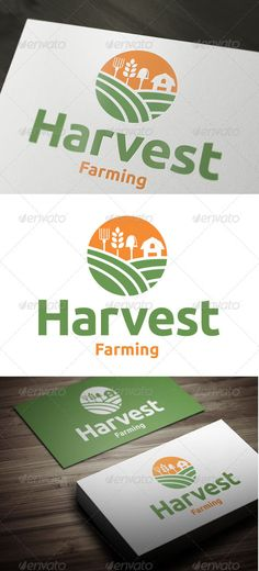 Harvest Farming - Vector - Resizable, easy to edit - AI, EPS files Font Used – Ubuntu font.ubuntu Created: GraphicsFilesIncluded: VectorEPS Layered: Yes MinimumAdobeCSVersion: CS Resolution: Resizable Tags: agriculture Logo Branding, Logos, Branding Design, Logo Design, Agriculture Logo, Farm Logo, Corporate Identity Design, Logo Food, Creative Logo