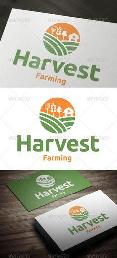 Harvest Farming — Vector EPS #plant #farming • Available here → https://graphicriver.net/item/harvest-farming/3433907?ref=pxcr