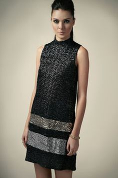 Boutique Faye High Neck Sequin Shift Dress