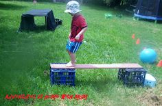 Out door Obstacle Course.     After a couple days of rain we needed to get outside and do something physical. At our house, we love obstac...