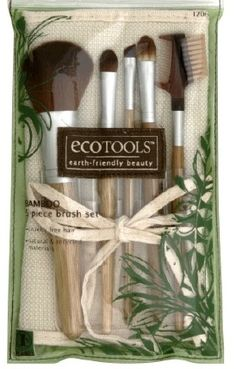 Eco-Tools- love these!! They last forever! You can clean them frequently & they dont fall apart like other brush sets! :)