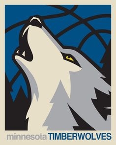 Add this Minnesota Timberwolves NBA design in either a canvas or fine art print. Available at rareink,com @Minnesota Timberwolves