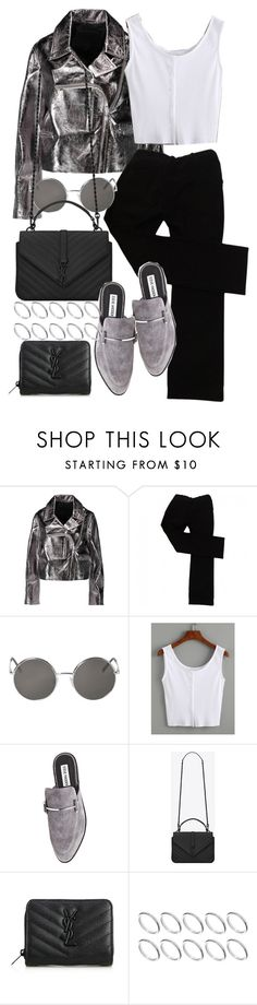 """""""Sin título #516"""" by above3600 ❤ liked on Polyvore featuring McQ by Alexander McQueen, Zara, Monki, Steve Madden, Yves Saint Laurent and ASOS"""