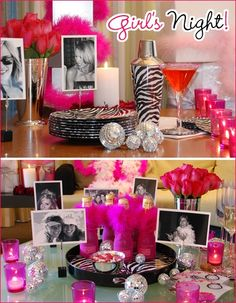 bachelorette love the idea of printing out old b and w pictures for the bachelorette to take home after :)