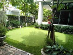 7 วิธีแต่งสวนสวยและมีที่วิ่งเล่นสำหรับเด็ก | homify Golf Courses