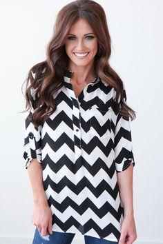 Magnolia Boutique Indianapolis - Chevron Blouse - Black, $36.00 (http://www.indiefashionboutique.com/chevron-blouse-black/)