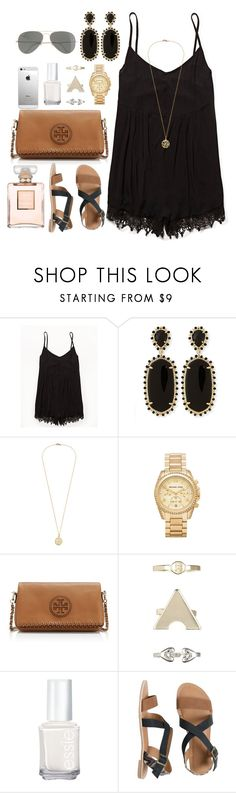 """""""Romper dayss"""" by chelseadouglas ❤ liked on Polyvore featuring Free People, Kendra Scott, Michael Kors, Tory Burch, 1&20 Blackbirds, Essie, IPANEMA, J.Crew, AT&T and Chanel"""
