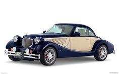 Bufori Old Model Car Blue Tech Screen Background