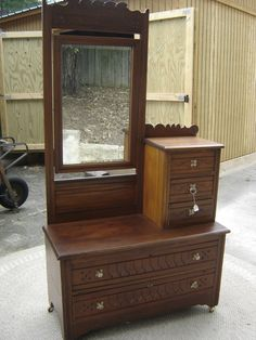 Cherry Eastlake Gentleman S Dresser With Hat Box 6710 Ebay