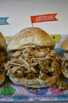 Crock Pot Pulled Turkey Sliders from Anyonita Nibbles