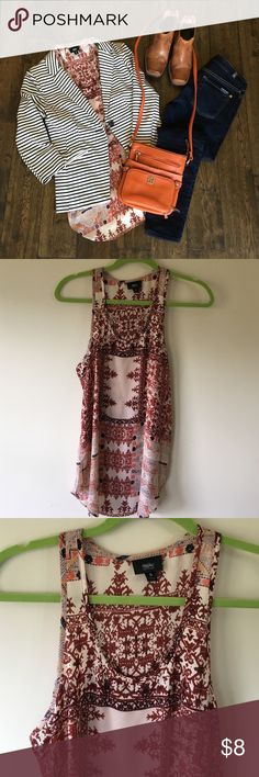 Mossimo tunic s flowy and lightweight Euc super Versatile. Purse is also listed in my closet Mossimo Supply Co Tops Blouses