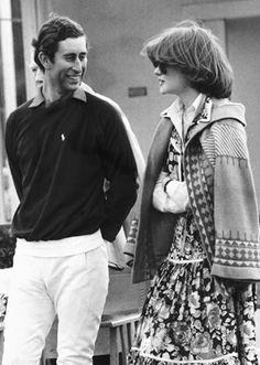 Prince Charles and Lady Sarah Spencer (Diana's sister)