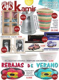 ¡Ya empezaron las REBAJAS del Verano 2017! http://kamir.es/promocion  #rebajas #outlet #decompras #decoracion #mueble #regalos #casa #hogar #home #tienda #online #decompras #kamir #kamirdecoracion