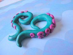 Custom Clay Tentacle Earrings by SugarToof on Etsy, $12.00